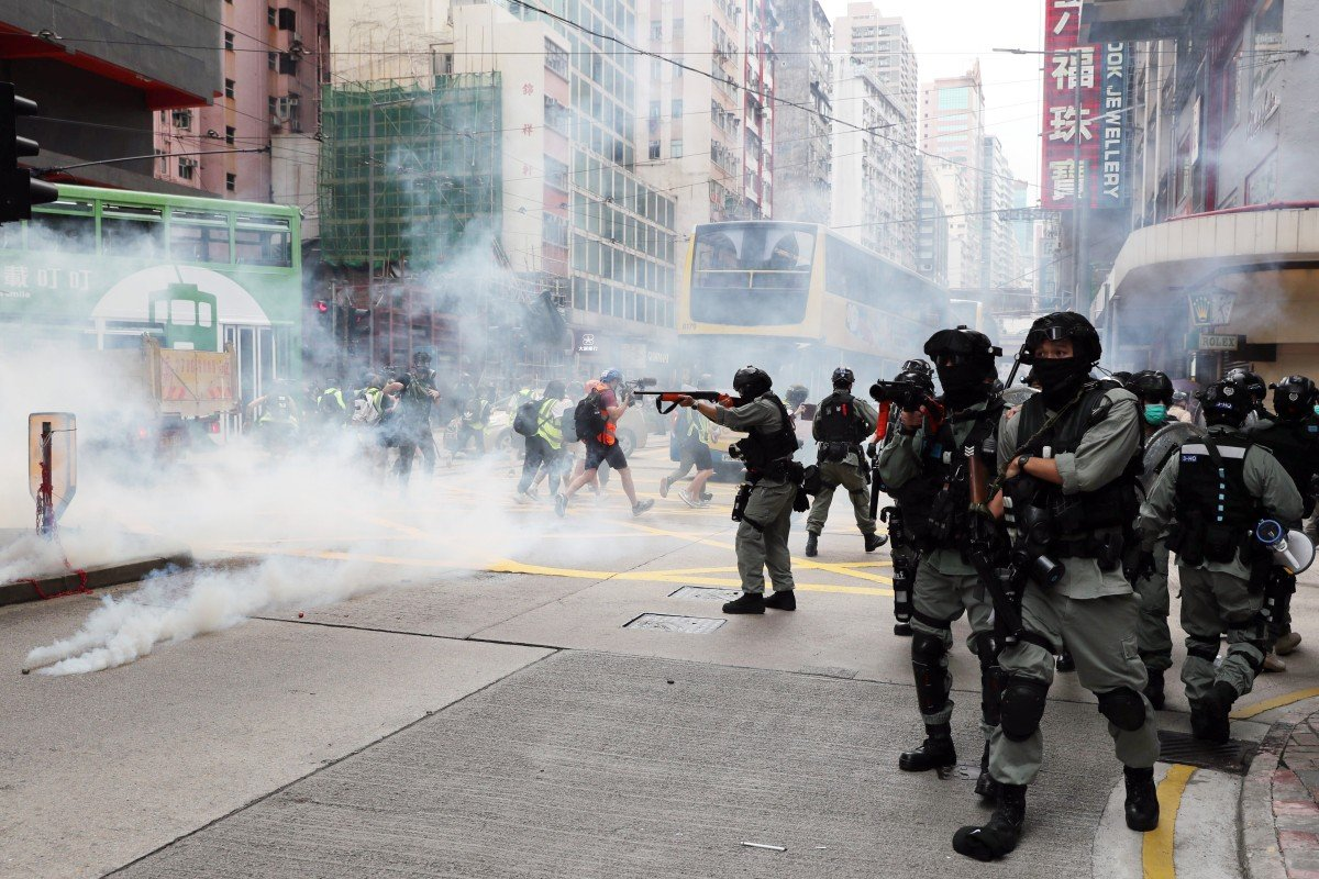 Tear gas fired, arrests made as thousands protest against ...