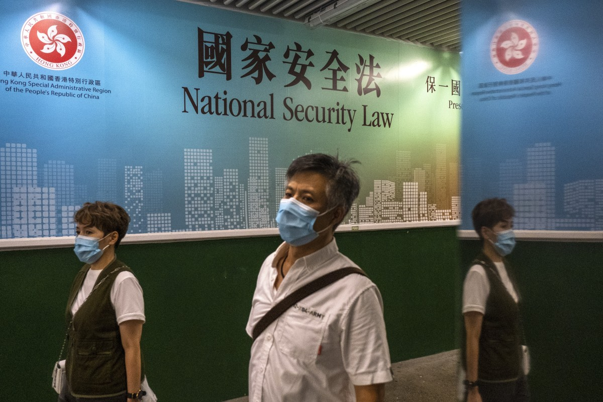 Hong Kong adopted the national security law on Tuesday, with protetests taking place in the city the following day. Photo: Sun Yeung