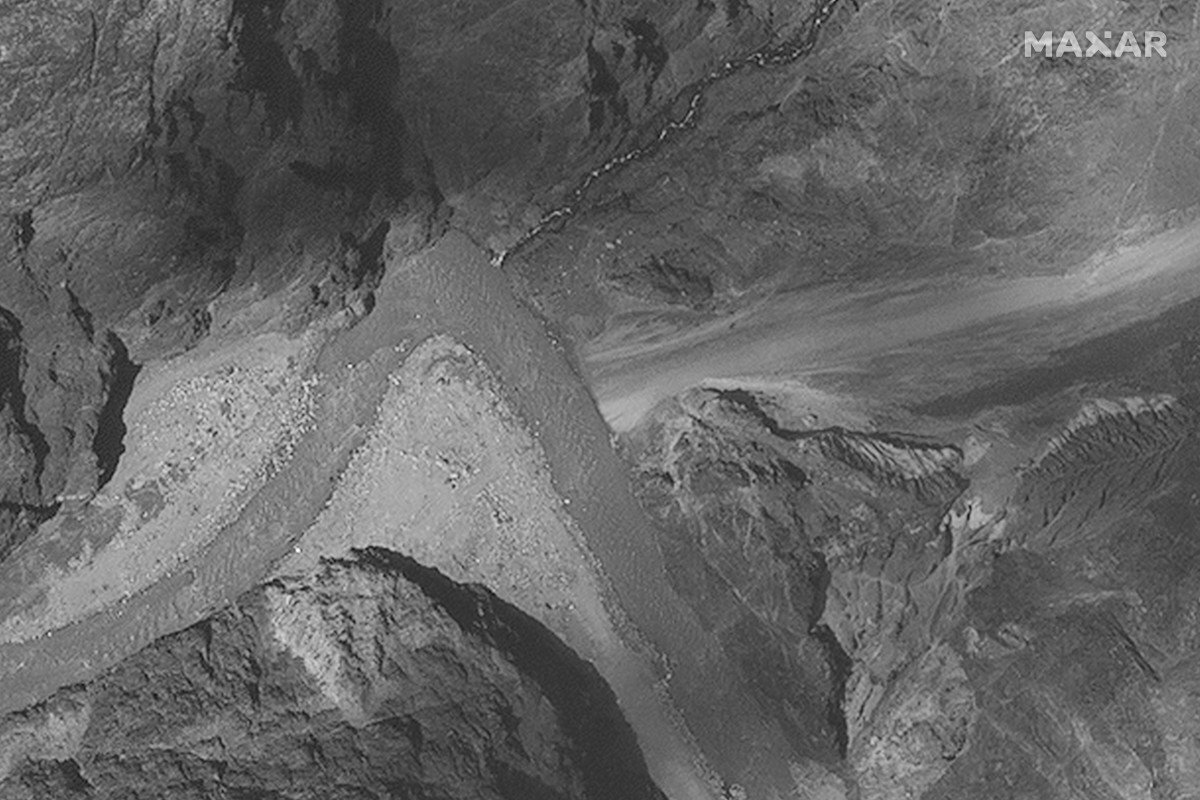 This July 6 satellite image provided by Maxar Technologies shows the Galwan Valley along the disputed border between India and China. China and India appear to have dismantled recent construction on both sides of the border. Photo: Maxar Technologies via AP