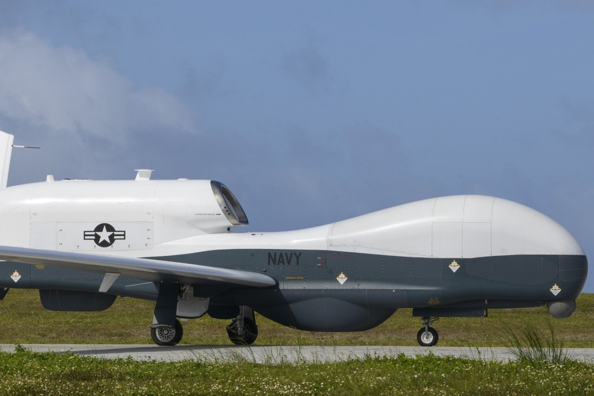 A US Navy MQ-4C Triton drone was seen flying towards the southeast of Taiwan on Wednesday. Photo: Handout