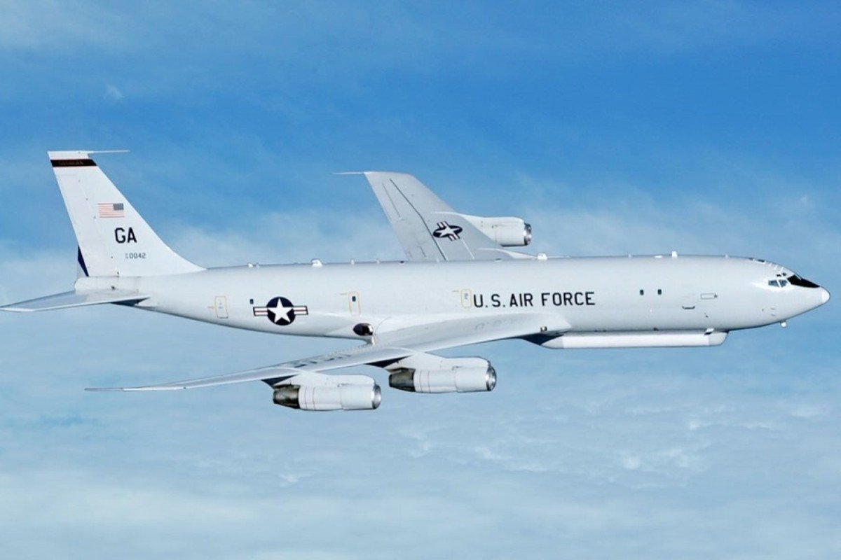 American E-8C surveillance planes have made multiple flights close to the Chinese coast in the past week. Photo: Handout