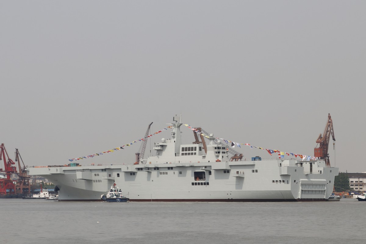 The new ships would be a more advanced version of the Type 075 vessels that have yet to enter service. Photo: Weibo