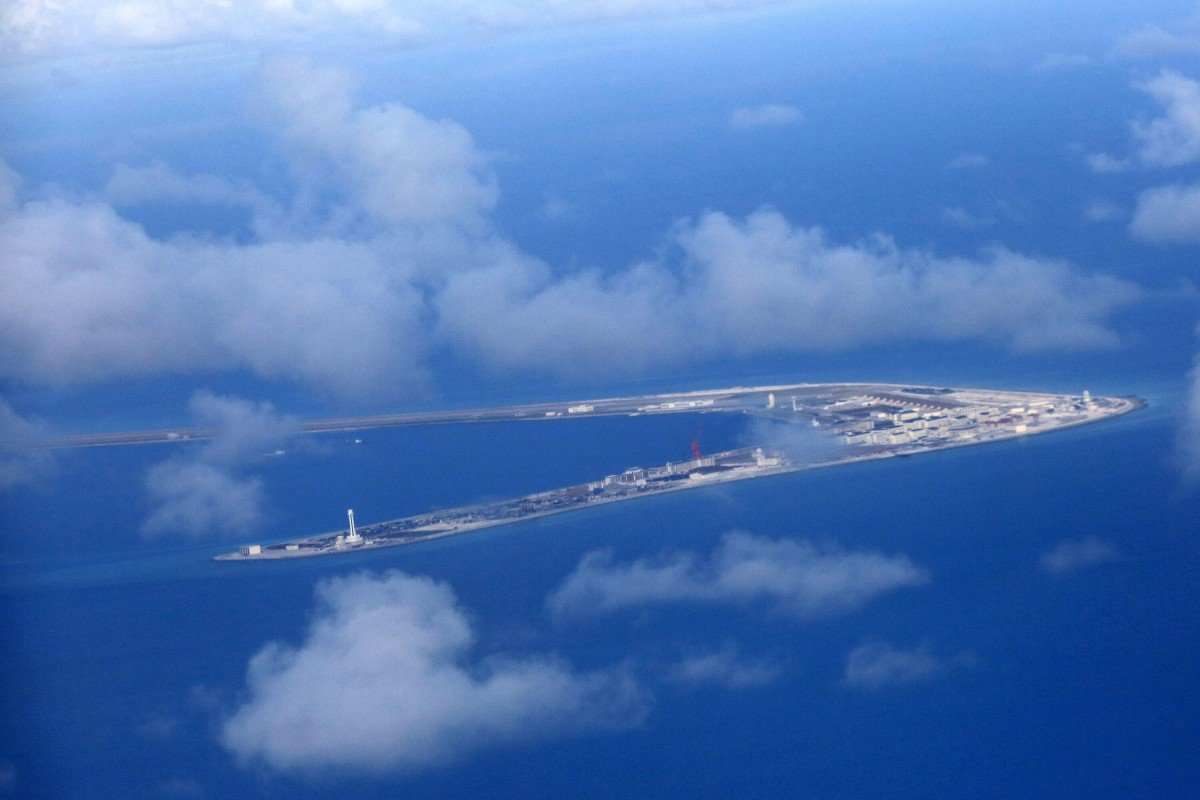 Subi reef, one of several islands claimed by China in the South China Sea. Photo: EPA