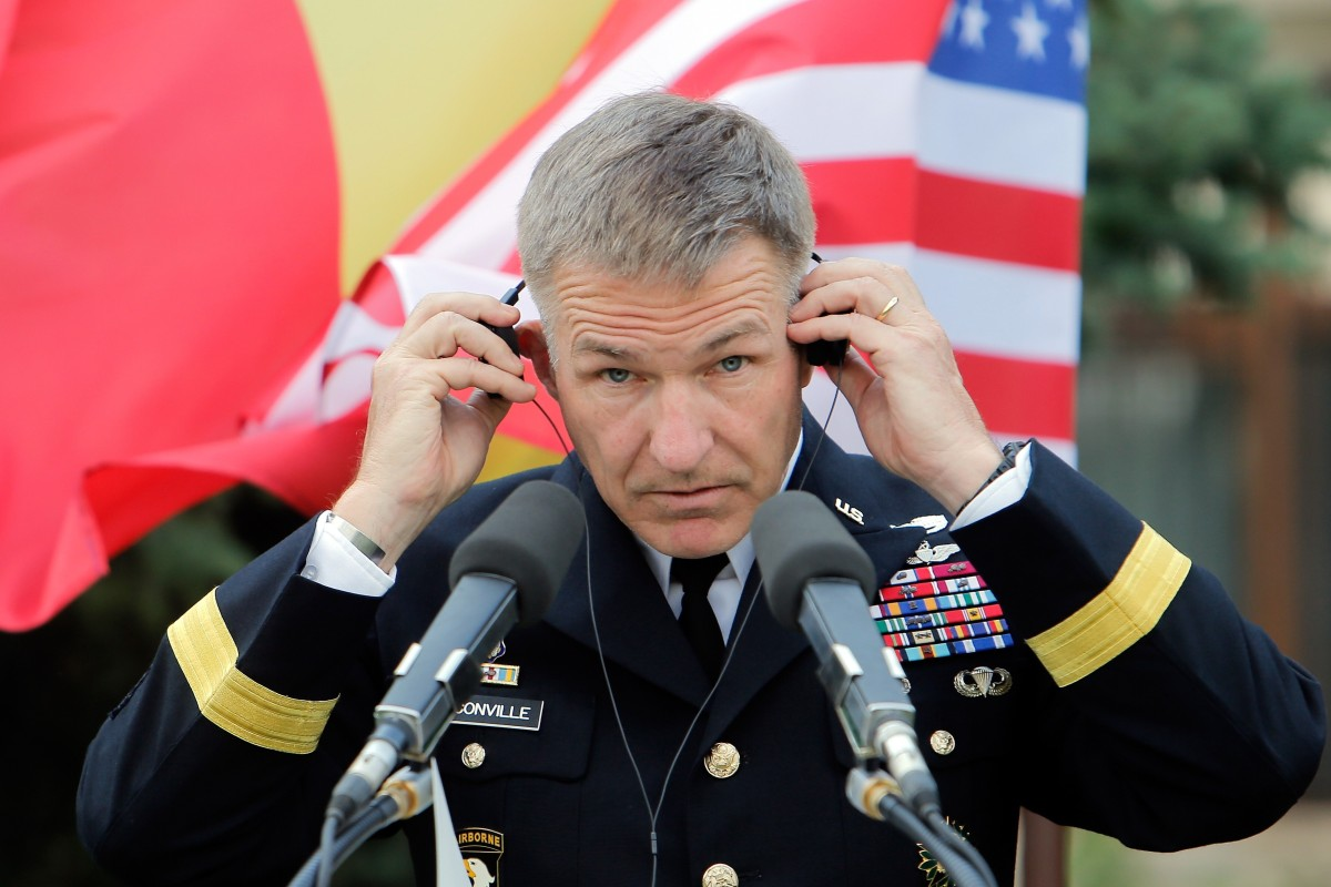 """US Army Chief of Staff James McConville says he is was making """"long-range precision fire"""" his top priority. Photo: EPA-EFE"""