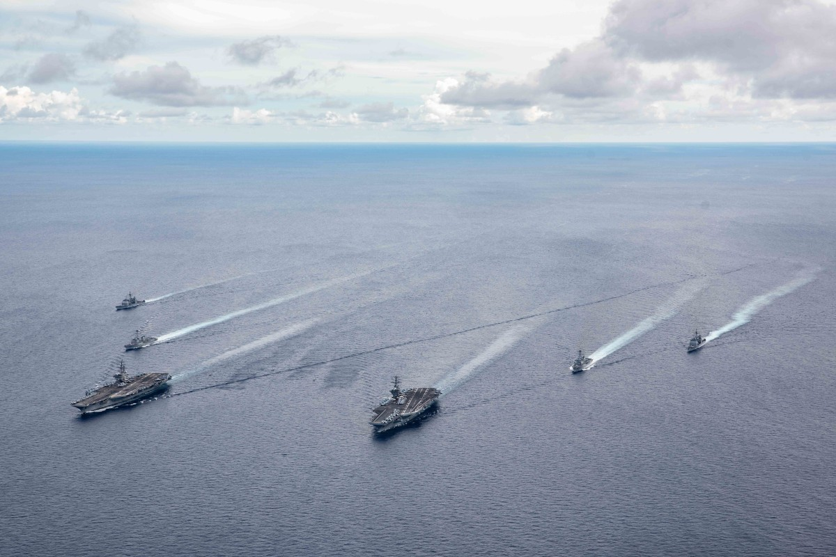 The USS Nimitz and USS Ronald Reagan recently carried out drills near the Chinese coast. Photo: EPA-EFE