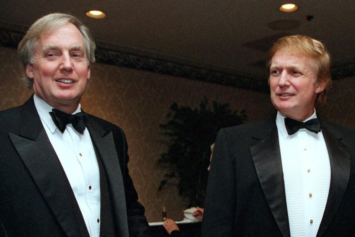 Robert Trump and Donald Trump in 1999. File photo: AP