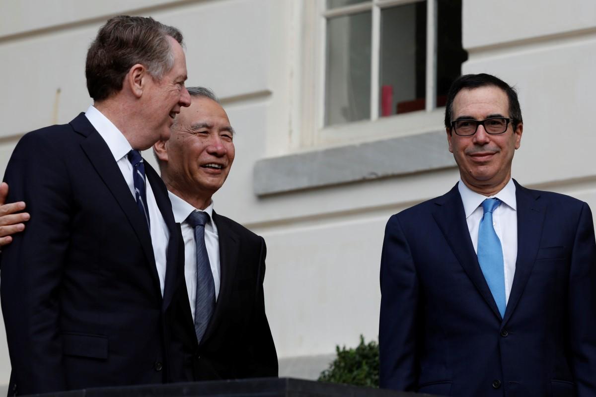 US Trade Representative Robert Lighthizer (left), Chinese Vice Premier Liu He and US Treasury Secretary Steve Mnuchin in Washington last year. Photo: Reuters