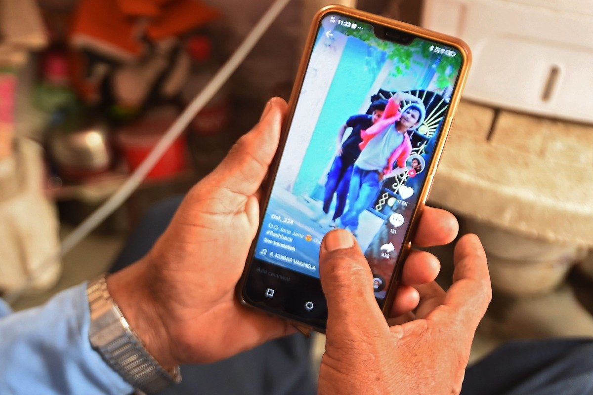 India banned 59 Chinese apps including ByteDance's TikTok and Tencent Holdings' WeChat in June. Photo: AFP