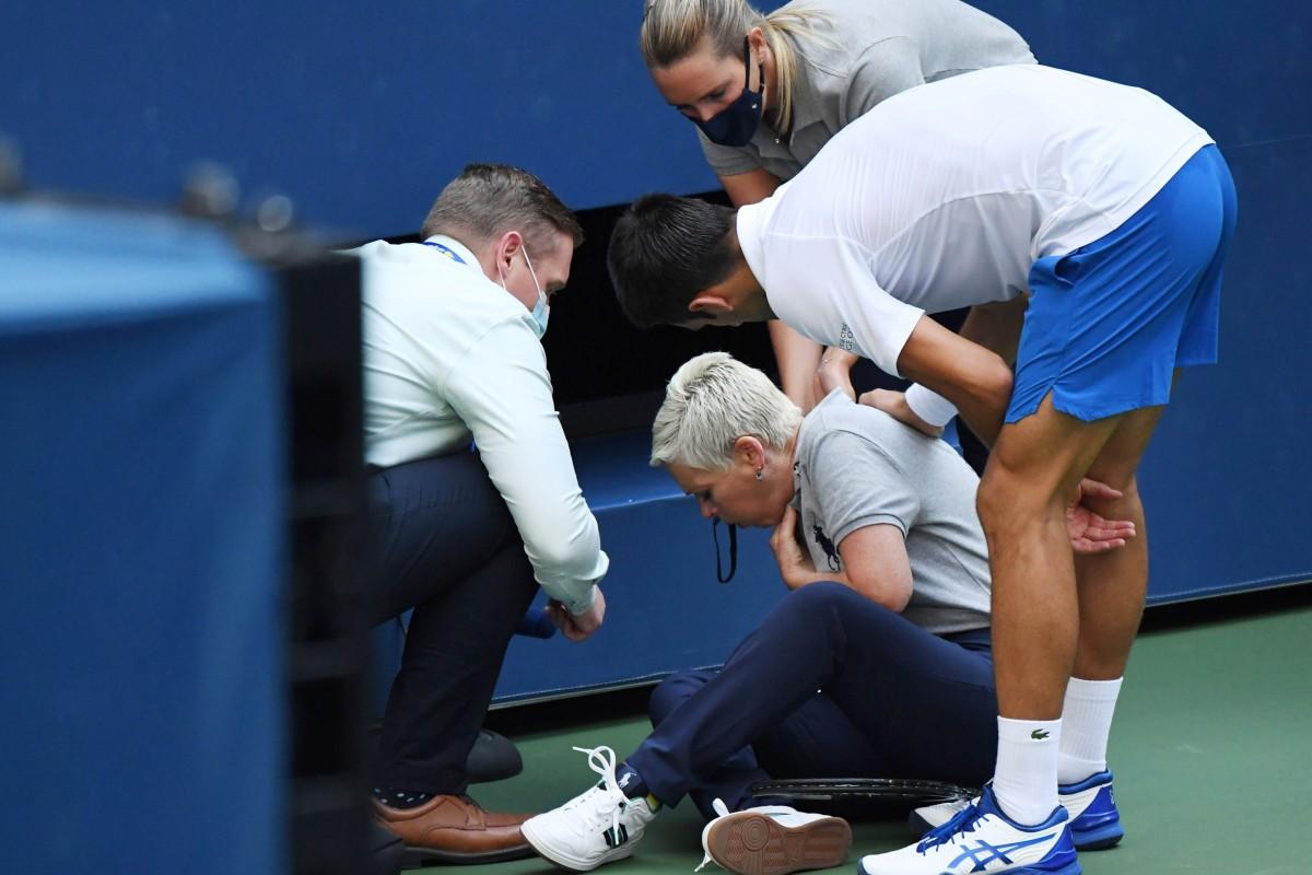Us Open Novak Djokovic Line Judge Subjected To Vile Social Media Abuse South China Morning Post