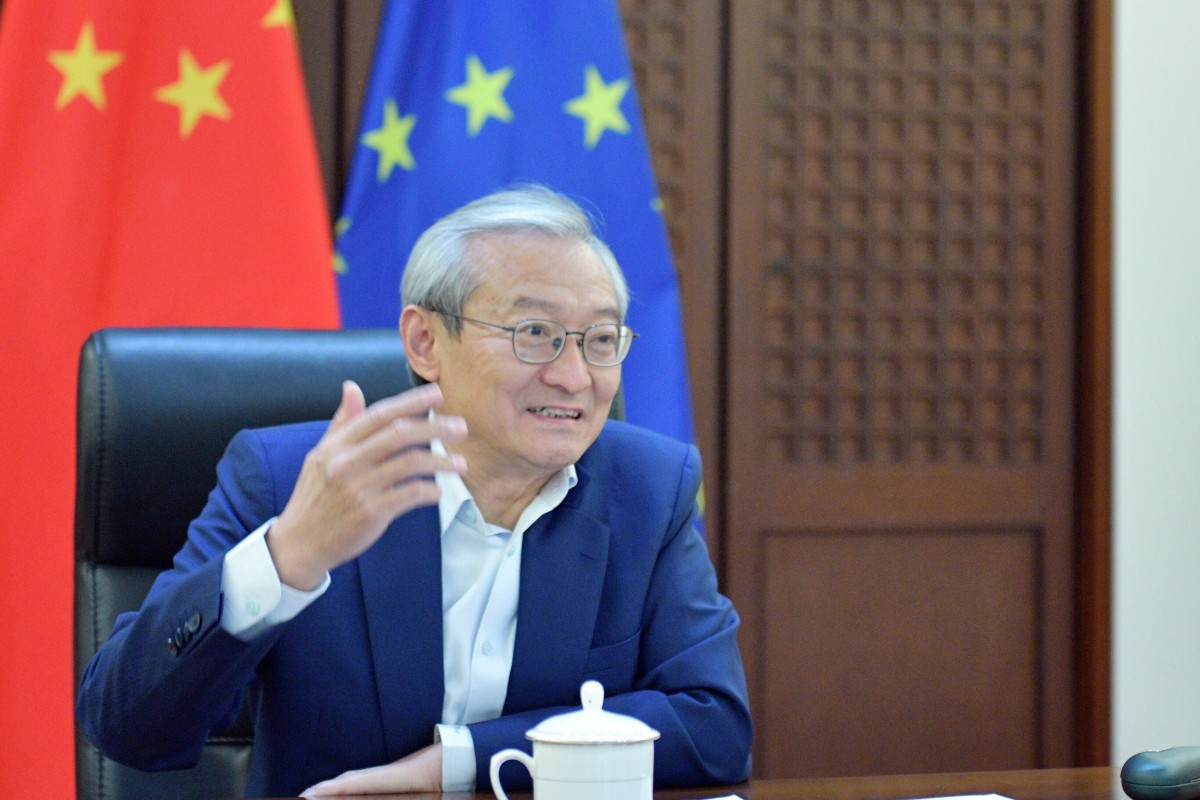 """China's envoy to the EU Zhang Ming said the two sides """"should make the right choice between opening doors and shutting doors"""". Photo: Handout"""