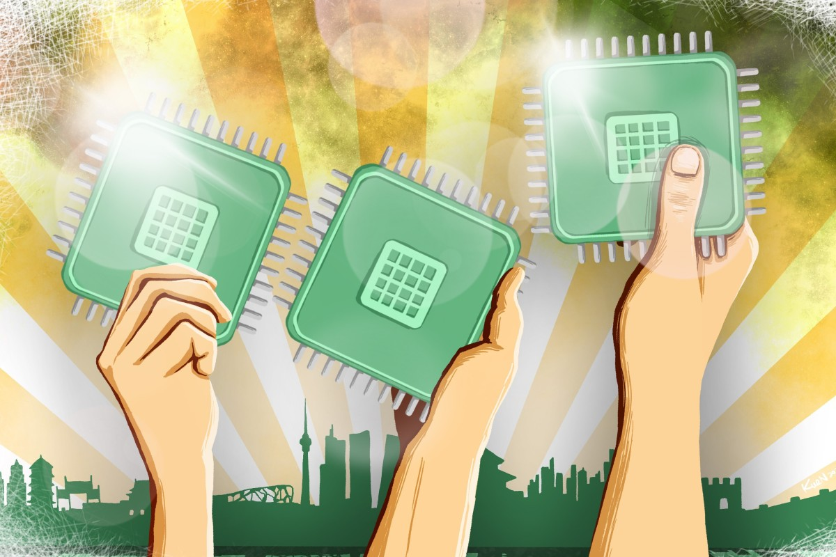 China is investing huge resources into achieving a breakthrough in chipmaking. Illustration: Lau Ka-kuen