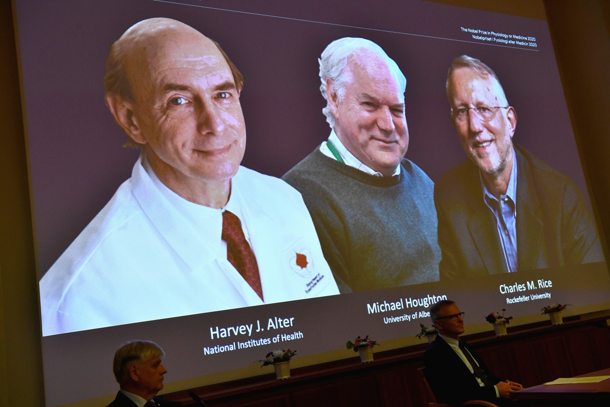Harvey J. Alter, Michael Houghton and Charles M. Rice were awarded the 2020 Nobel Prize in medicine for the discovery of the hepatitis C virus. Photo: Reuters