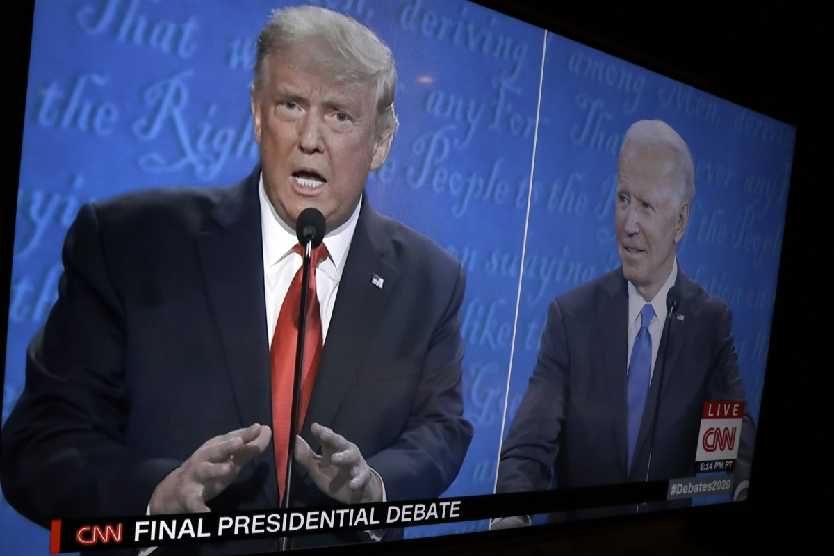 US President Donald Trump and Democratic candidate Joe Biden face off in the third presidential election debate. Photo: Handout