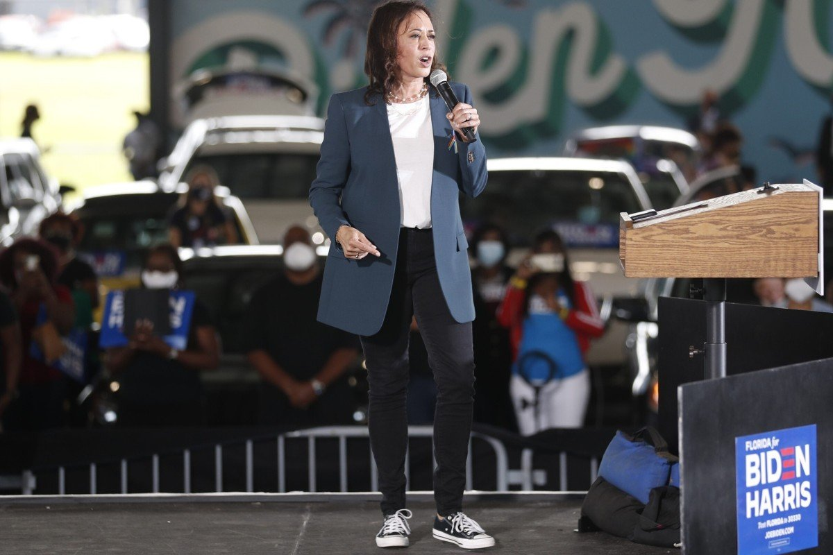 The Meaning Of Kamala Harris Shoes Why Her Converse Sneakers Make Such A Powerful Political Statement For Women South China Morning Post