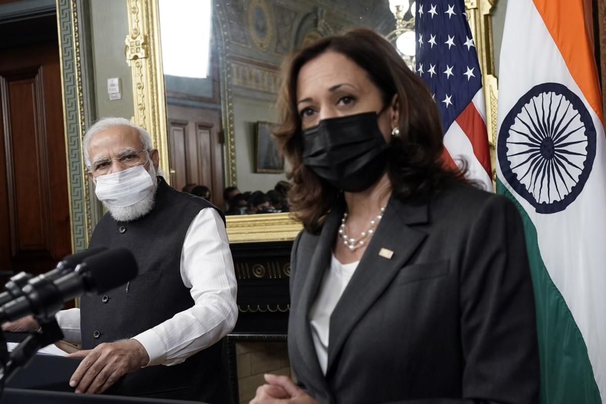 Kamala Harris gently presses Indian PM Narendra Modi on human rights during US meeting