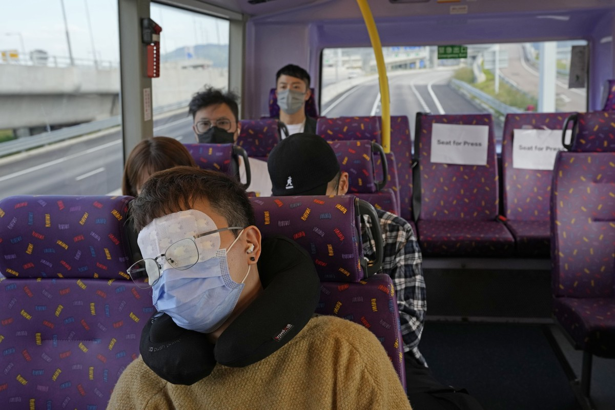 Next stop, dreamland: snoozing's the main draw of Hong Kong bus tour that takes people on a 5-hour ride