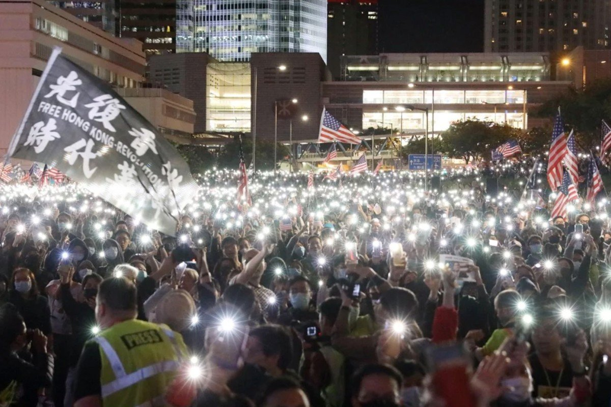 Image result for images of Hong Kong protests on Nov. 27, 2019