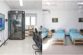 The new clinic has a karaoke booth (left) and allows families to stay with patients (right) during a rehab program that lasts four to six months. (Picture: The Beijing News)