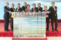 Professor Sophia Chan, Secretary for Food & Health (middle) officiates at the grand opening ceremony together with Mr. Wyman Li, COO of HKSH Medical Group and Manager (Administration) of Hong Kong Sanatorium & Hospital (4th from left) and Dr. Walton Li, CEO of HKSH Medical Group and Medical Superintendent of the Hospital (4th from right).