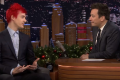 Ninja has become the face of Fortnite and was reportedly raking in US$500,000 a month at the peak of his popularity. (Picture: The Tonight Show Starring Jimmy Fallon)