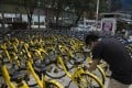 Once valued at US$2 billion, Ofo is now struggling to stay afloat. (Picture: SCMP)
