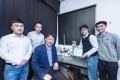Members of the CityU research team: (from left) Mr Zheng Huanxi, Mr Xu Wanghuai, Professor Wang Zuankai, Dr Zhang Chao and Song Yuxin.