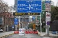 A blocked road in Wuhan on February 7 amid the coronavirus outbreak. (Picture: Reuters)