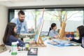 Students receive individualised support in the school's Art Studio