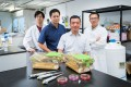 Dr Zhu Guangyu (front row) and his team at CityU.