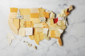 The USA produces over 1,000 varieties of cheeses across the country.