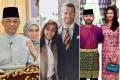 3 couples, 3 unique love stories: Sultan Abdullah Ri'ayatuddin & Tunku Azizah; Tengku Zatashah & Aubry Mennesson, Tunku Ismail Idris and Khaleeda Bustamam. Photos: @airtangan_tunkuazizah @zatashah @ymchepuankhaleeda/Instagram