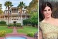 Sandra Bullock and her home in Tybee island. Photos: @sandrabullockco/ Instagram; Celia Dunn Sotheby's International Realty