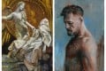 """The Bitcoin Angel, now available as an NFT """"open edition"""", and an oil canvas of UFC fighter Conor McGregor – two digital artworks released on sale by Trevor Jones. Photo: Trevor Jones"""
