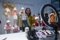 A live-streamer sells children's clothes in Zhili town, Huzhou, Zhejiang province, on February 8. Live-streaming, group buying and new forms of social shopping are emerging in Asia as e-commerce explodes. Photo: Xinhua