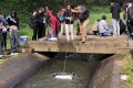 The School of Science and Technology at the Open University of Hong Kong (OUHK) has been part of FreshWater Watch. Here students  practice  water sampling. Photo: Open University of Hong Kong