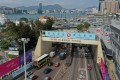 A banner touting the national security law is displayed over the entrance to the Cross-Harbour Tunnel. The US has criticised Beijing over the law in a recent report. Photo: Sam Tsang