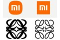 Xiaomei and Loewe: subtle logo changes over then and now. Photos: XiaoMi/Weibo, handout