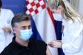 Croatian Prime Minister Andrej Plenkovic receives a dose of AstraZeneca coronavirus vaccine in Zagreb, Croatia, last month. Photo:  EPA-EFE