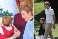 Barron Trump shows the love with his nephews Theodore and Joseph Kushner. Photos: @barronupdate/Instagram, Getty Images