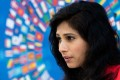 """Gita Gopinath, the chief economist of the International Monetary Fund, which believes the global economic recovery from the pandemic is """"increasingly visible"""". Photo: AFP"""