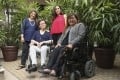 Members of SENsational Foundation (from left to right) Faride Shroff, Lolitta Ho, Barda Katieh and Carmen Yau at Kowloon Cricket Club in Jordan. The NGO, which promotes equality, empowerment and inclusion of people with disabilities in Hong Kong, has organised a virtual walkathon fundraiser that runs from April 8 to May 31. Photo: Edmond So