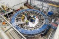 The Muon g-2 ring is seen at the Fermi National Accelerator Laboratory outside Chicago in August 2017. Photo: Fermilab via AP