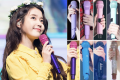 IU and a few mics from her huge collection of gear – just one of the things she likes to splurge on. Photo: @UAENA_516 @Raon_iu/Twitter