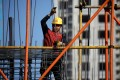A construction site in Beijing. Home prices in the six cities – with the exception of Shenzhen – registered growth for the 12 months ending in March this year. Photo: Reuters
