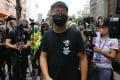 Activist Joshua Wong in Hong Kong's Yau Ma Tei neighbourhood in September 2020. Photo: Dickson Lee