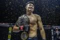 Christian Lee celebrates after beating Timofey Nastyukhin. Photos: ONE Championship