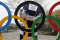 Tokyo 2020 Olympic Games mascot Miraitowa poses as calls increase for the Games to be delayed or cancelled. Photo: AP