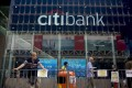 A Citibank branch on Nathan Road in the Mong Kok area of Hong Kong on Wednesday, October 22, 2014. Photo: Bloomberg