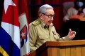 First Secretary Raul Castro speaks during the opening session of the eighth congress of the Cuban Communist Party in Havana on Friday. Photo: Cuban News Agency (ACN) via AFP