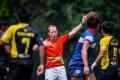 Matt Rodden referees an Asia Rugby Under 20 Sevens match in Hong Kong. Photo CWH